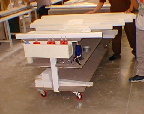 Rolling 3-Tier Cart, 2' x 4'