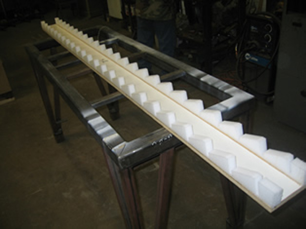Our Polyurethane Foam Louver Holders help quicken the assembly process by aligning the Louvers with the side rails.